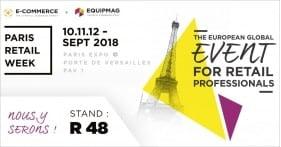 Notre équipe sera présente au Paris Retail Week 2018