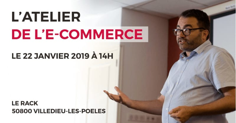 Vincent à l'Atelier de l'e-Commerce !