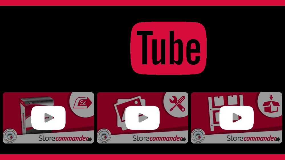 Vidéos YouTube - Store Commander